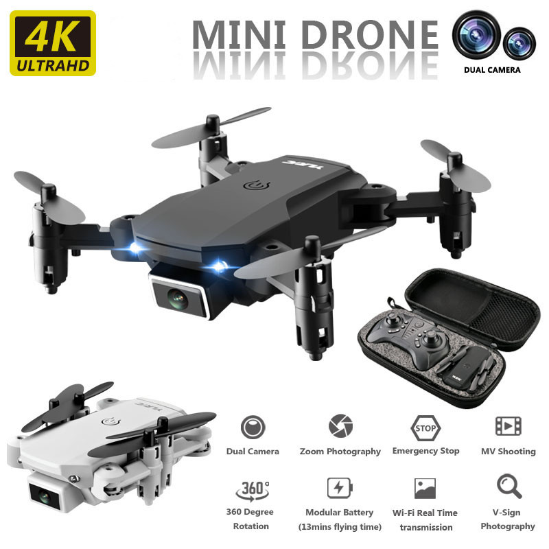 BENTOBEN Profissional Foldable HD 4K Drone With Camera 720P Selfie WiFi FPV MIni Optical Flow RC Quadcopter Helicopter Dron Gift