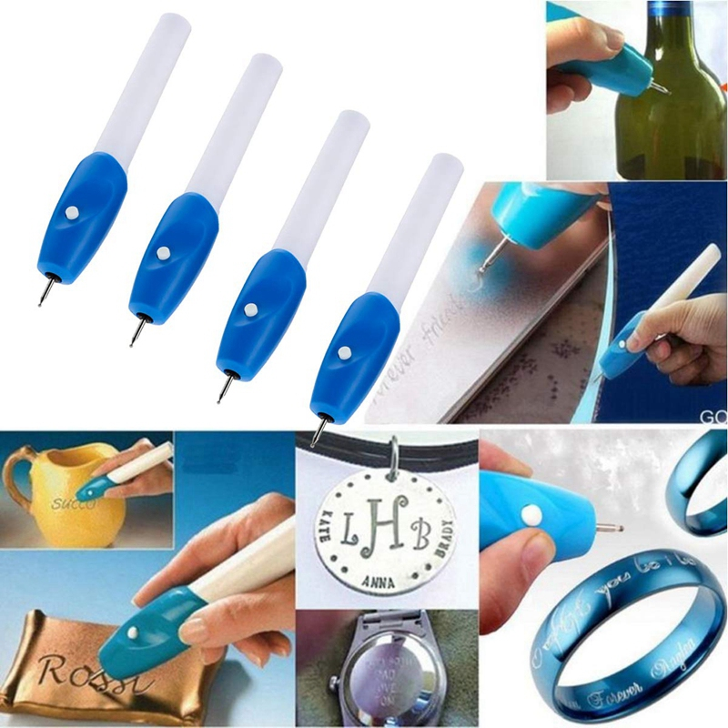EASY-4-Pack Cordless Electric Engraving Pen Carve Tool With Tips For Diy Jewelry Metal Wood Ceramic Glass