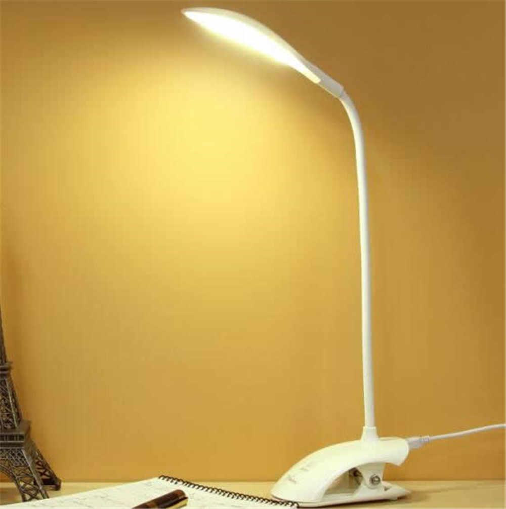 Stufenlos Dimmbar Schreibtisch Lesen Licht Faltbare Drehbare Touch Schalter LED Tisch Lampe DC 5V USB Lade Port Timing Nacht lampe