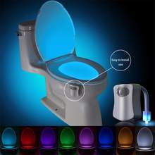 8 Colors Smart PIR Motion Sensor Toilet Seat Night Light Waterproof Backlight For Toilet Bowl LED Luminaria Lamp WC Toilet Light