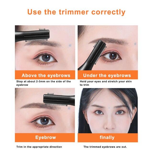 High Quality Electric Face Eyebrow Scissors Hair Trimmer Mini Portable Women Body Shaver Remover Blade Razor Epilator 4