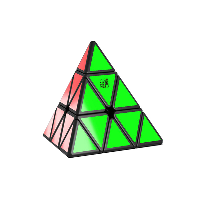 YONGJUN Yulong V2M Magnetic Magic Pyramid Cube Speed Cubes Professional YJ V2 Stickerless Magnets 3×3 Puzzle Cube