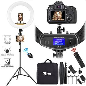 Dimmable Photography Ring Light With Carry Bag 18 Inch Led Ringlight Lamp For Makeup Light Tripod For YouTube Live Studio Video