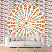 India Mandala Wall Hanging Tapestry 3D Printing Polyester Hippie Beach Throw Towel Home Art Blanket Yoga Mat