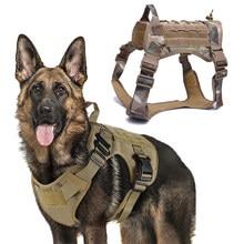 Militar tático cão arnês frente clipe aplicação da lei k9 trabalho pet cão durável colete para pequenos cães grandes pastor alemão