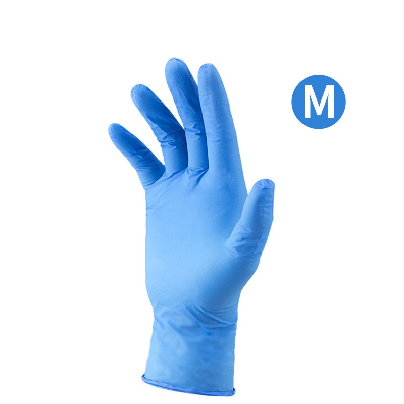 50 Pairs Protective Rubber Gloves Disposable Lattix Mittens Homwear Glove Lattix Gloves Protective Latex Gloves