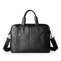Neue Mode Aus Echtem Leder Männer Tasche Berühmte Marke Schulter Tasche Messenger Bags Handtasche Kausal 15,6 zoll Laptop Aktentasche Männlichen