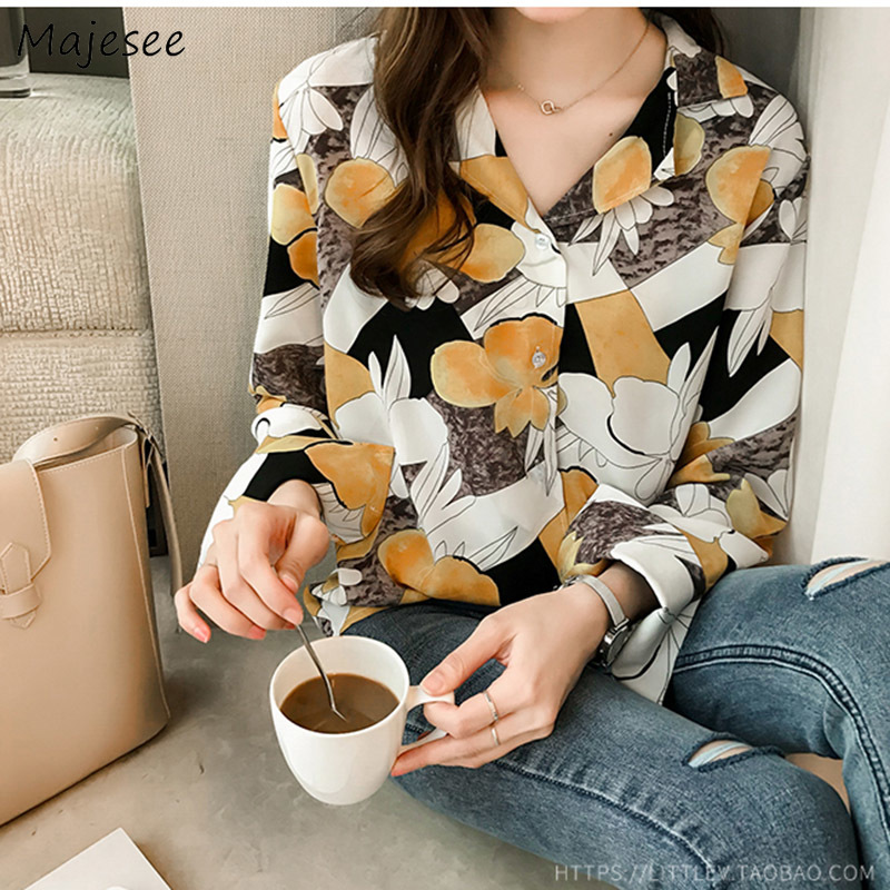 Blouses Women Printed Thin Breathable Summer Elegant Simple Womens Shirt All-match Casual Daily Soft Harajuku Office Lady Chic