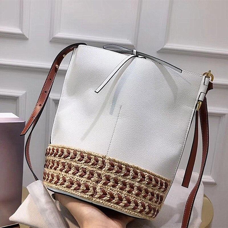 REIWE New Large sized Single shoulder Handbag Simple Women Pure genuine Leather Oblique Cross bag Fashion