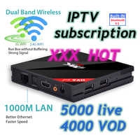 H96 PRO TV BOX + 1 year IPTV Europe Asia Africa iptv subscription adult x x x account Arabic abonnement Italian channels