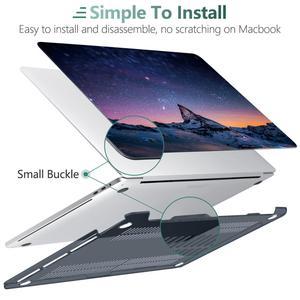 Image 4 - הדפסת צלול קשיח מקרה עבור 2017 2018 2019 2020 החדש Macbook Pro רשתית 13 15 A1706 A1989 מגע בר כיסוי אוויר 11 13.3 אינץ