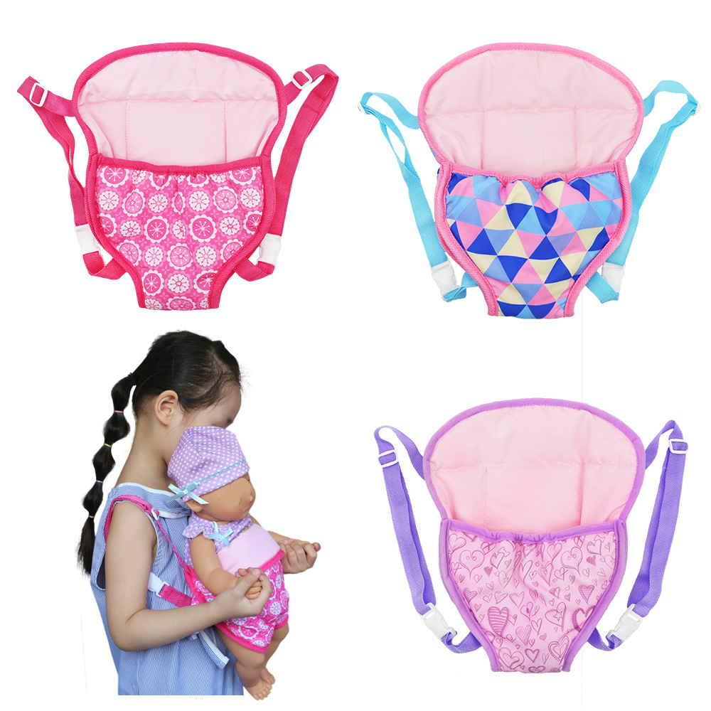 Girl Dolls Out Going Carry Bag Sleep Bag Doll Accessories For 43cm Baby Doll 18 Inch Doll Out Going Packets
