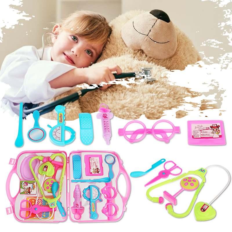 14pcs/set set Children Doctor Nurse Pretend Play Set Portable Suitcase Medical Tool Kids Portable Suitcase Medical Tool