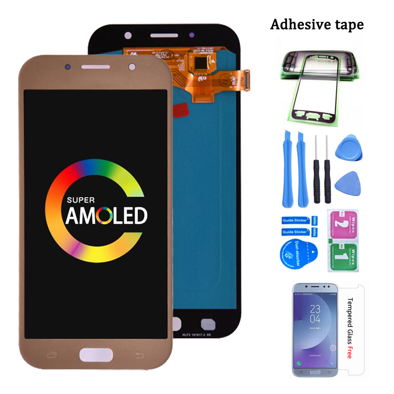 Super Amoled For <font><b>Samsung</b></font> Galaxy A7 2017 <font><b>A720</b></font> A720F <font><b>LCD</b></font> Display Touch Screen Digitizer Assembly <font><b>LCD</b></font> for Galaxy A7 2017 Duos image