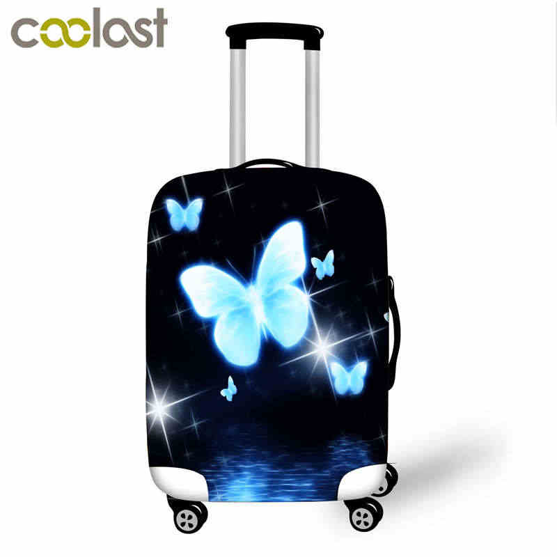 ผีเสื้อพิมพ์รถเข็นกระเป๋าเดินทาง 18-32 นิ้วกระเป๋าเดินทางสัมภาระกระเป๋าสัมภาระครอบคลุมอุปกรณ์เสริม
