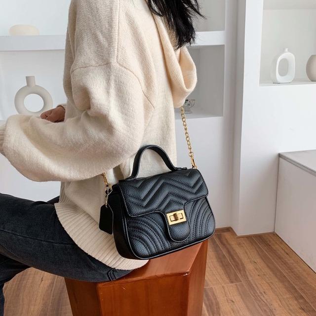 Fashion Lingge Chains Women Shoulder Bags Designer Handbags Luxury Pu Leather Female Crossbody Bag Small Flap Ladies Purses 2019