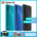 Xiaomi Redmi 9A глобальная Версия Мобильный телефон 2 ГБ 32 ГБ MTK Helio G25 Восьмиядерный 6,53