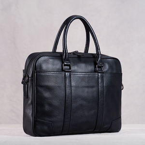 Genuine Leather Casual Men Handbag Man Briefcase Business Shoulder Large Capacity Crossbody 15.6 Inch Laotop Office Bags NUPUGOO