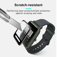 screen film BAPICK Protective Glass For Xiaomi Amazfit Bip Screen Protector Protection Full Cover Huami Amazfit Bip Film Glass Accessories (2)