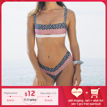 Miyouj Push Up 비키니 여성 2019 New Biquini 플로랄 수영복 여성 수영복 점 수영복 Womens Beach Bandeau Bikini Set