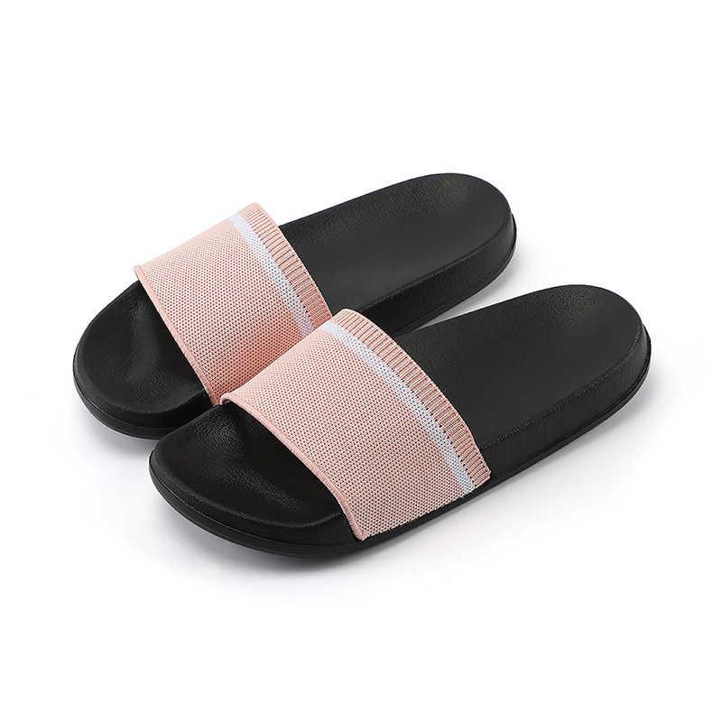 POSEE נשים אופנה כפכפים שטוח בית מקורה כפכפים נשים חוף חיצוני שקופיות נעלי נעלי גבירותיי נעלי בית נשי 3116