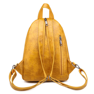 Image 4 - 2020 Women Leather Backpacks High Quality Luxury Designer Bagpack Ladies Sac A Dos Female Pack Rucksacks For Girls Solid Travel