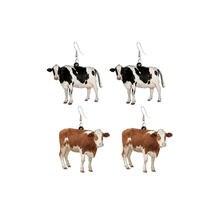 2020 Модные Акриловые висячие серьги в форме коровы для женщин