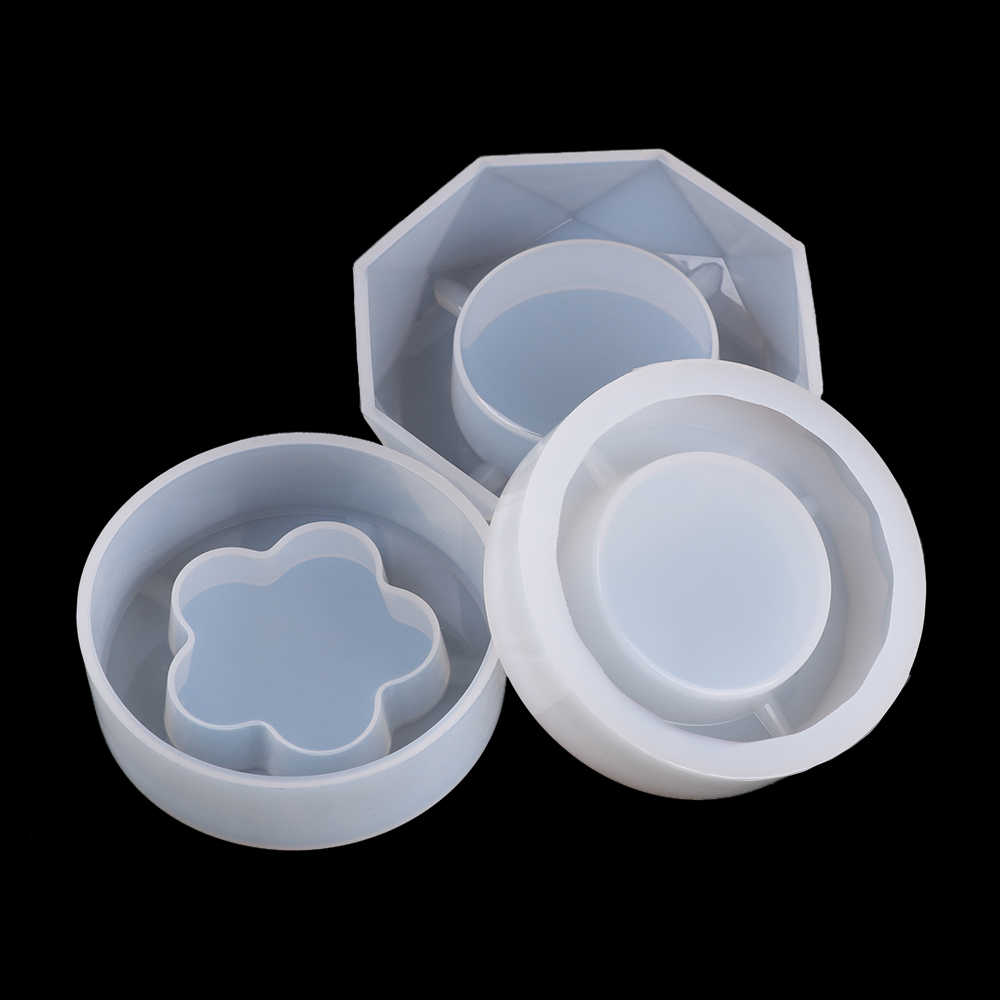Transparent DIY-Ashtray Mold Resin Crystal Silicone Tool Making Hand Craft Mould