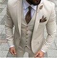Мужские костюмы, смокинг для выпускного вечера, облегающие свадебные костюмы для жениха из 3 предметов для мужчин, индивидуальный Блейзер ...