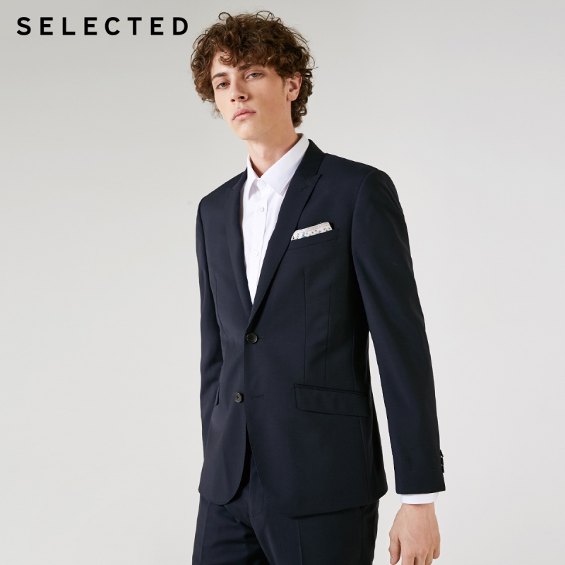 SELECTED Men's Woolen Suit Jacket T|41835Z502