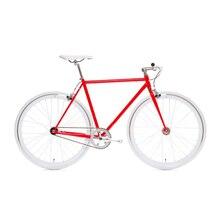 Bicicleta de engranaje fijo 700C bicicleta de una sola velocidad bicicleta roja 52cm fixie bicicleta vintage DIY marco