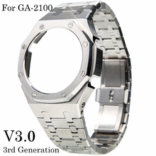 Ремешок для объектива с оптическими зумом Casio G-SHOCK GA-2100 3rd третьего поколения GA2100 часы Сталь ремешком оптовая продажа роскошь для ga2100 металли...