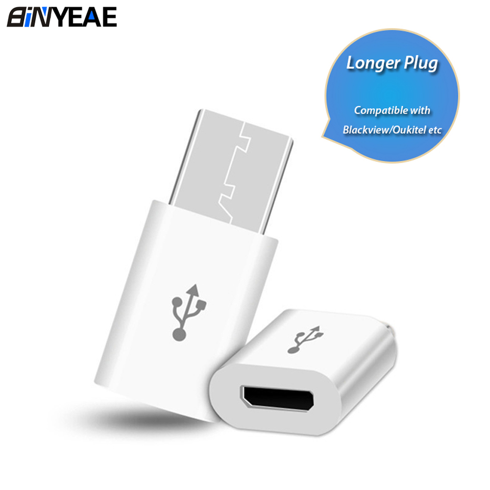 Mobile Phone Adapter Long Conveter For Blackview BV9900 A80 Pro Oukitel USB Type C Micro USB Mini Adapter Microusb Connector(China)