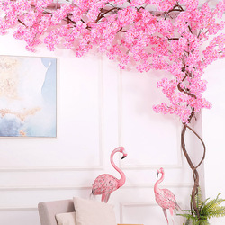 Set Fake Cherry Blossom Trees flor Artificial flowers Suit Party Wall Hanging Wedding Backdrop Landscape Outdoor Home Decoration