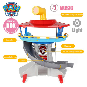 PAW PATROL Action Figures Toy Paw Patrol Headquarters Puppy Patrol Lookout Tower with Music & Light Rescue Base Children's Toy snow patrol snow patrol reworked 2 lp