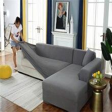 Ziarna kukurydzy uniwersalna narzuta na sofę w kształcie litery L, używana na meble do salonu, elastyczna osłona, pokrowiec na kanapę narożny narzuta na sofę,