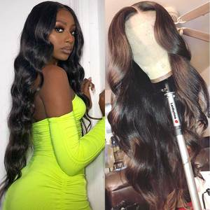 Human Hair Lace Wigs 180 Density Wavy Body Wave Lace Front Wig Hd Transparent Lace Frontal Wig Glueless Bodywave Wigs For Women(China)