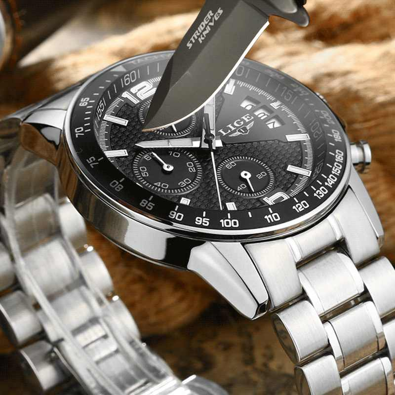 2020 ליגע קוורץ שעונים Mens למעלה מותג יוקרה צבאי ספורט מלא פלדת גברים שעון עמיד למים שעון הכרונוגרף Relogio Masculino