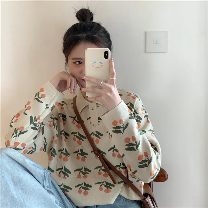 Women's Sweaters Japanese Kawaii Ulzzang Casual Loose Ins Retro Sweater Female Korean Japan Harajuku Clothing For Women