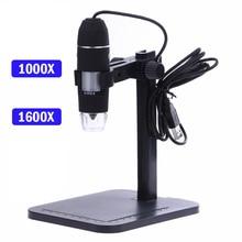 Microscopio Digital profesional USB, 8 LED, 2MP, 1000X, endoscopio, Zoom, cámara, lupa + soporte de elevación
