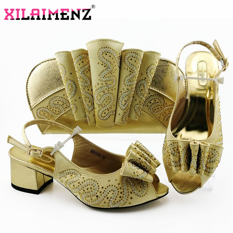 Image 5 - Silver Latest Comfortable Shoes and Bags Set African Sets 2019 