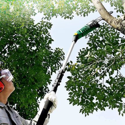 High Quality Electric High-altitude Chain Saw Telescopic Pruning Shears Fruit Tree Scissors Chainsaw 600W 220v/50HZ 10m/s