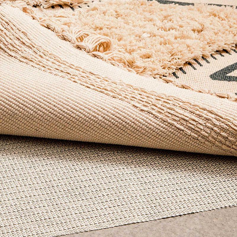 Marokko Katoen Hand Geweven Tapijt Getuft Kwasten Floor Mat Slaapkamer Tapijt Deken Woonkamer Tapijt Gebied Tapijt Tapete Para Sala