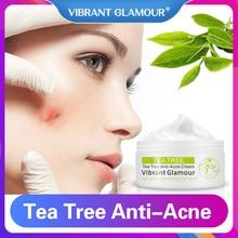 VIBRANT GLAMOUR Tea Tree Anti-Acne Face Cream Oil Control Shrink Pores Acne Nourish Whitening Scar Remove Skin Care