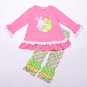 Image 1 - Paskalya tavşanı bebek giyim butik pamuk giyim nakış elbise erkek bebek giyim