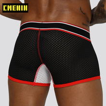 Brand Sexy Underwear Men Boxer Underpants Mesh Boxershorts Men Cotton Gay Mens Long Boxer Boxers Shorts Male Panties Man OR201