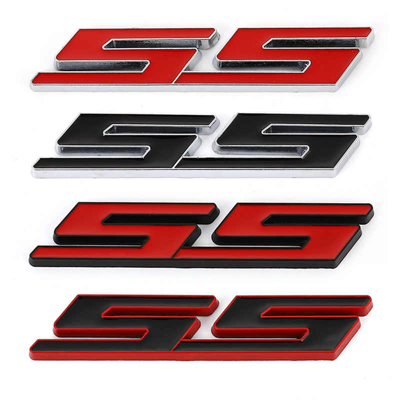 3D Car Sticker Front Hood Grill Emblem Grille Badge for Chevrolet SS Sport Cruze Camaro Captiva Aveo Lacetti Rear Trunk stickers