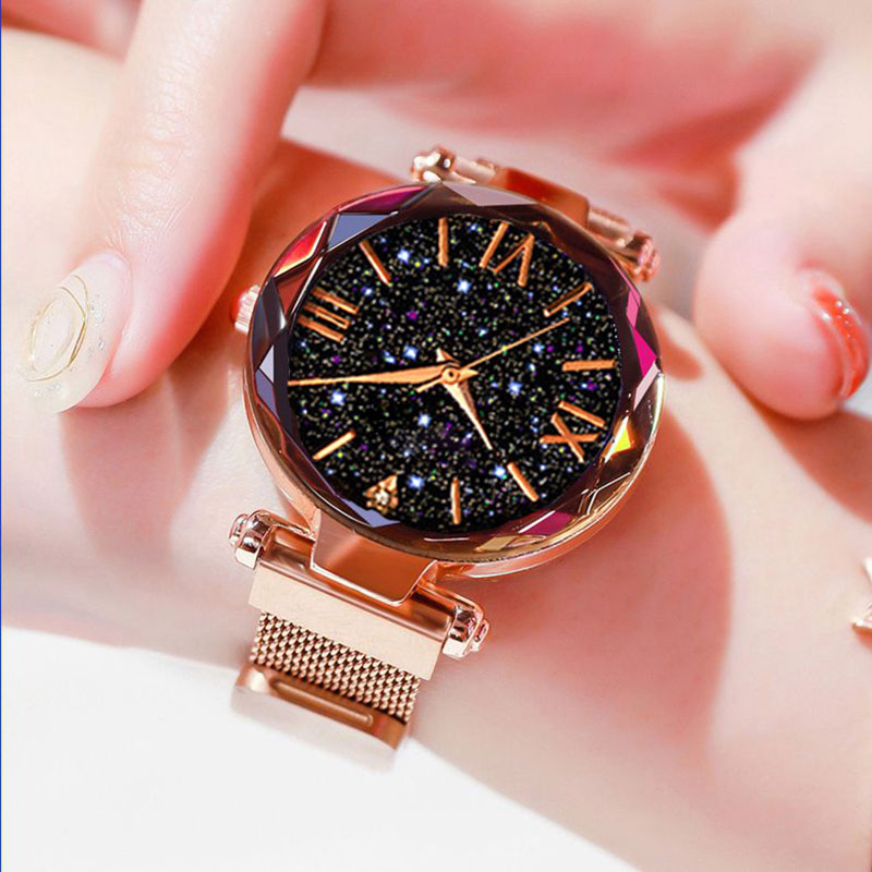 Luxury Women Watches Magnetic Starry Sky Ladies Wrist Watch Stainless Steel Band Quartz Wristwatch Montre Femme Relogio Feminino