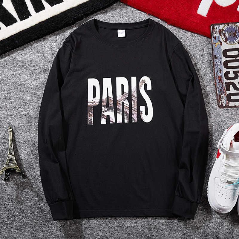 2019 тренд, мужские футболки, рубашки с принтом-надписью, повседневные мужские футболки с длинными рукавами и круглым вырезом, большие размеры 8XL 10XL, свободные мужские пуловеры