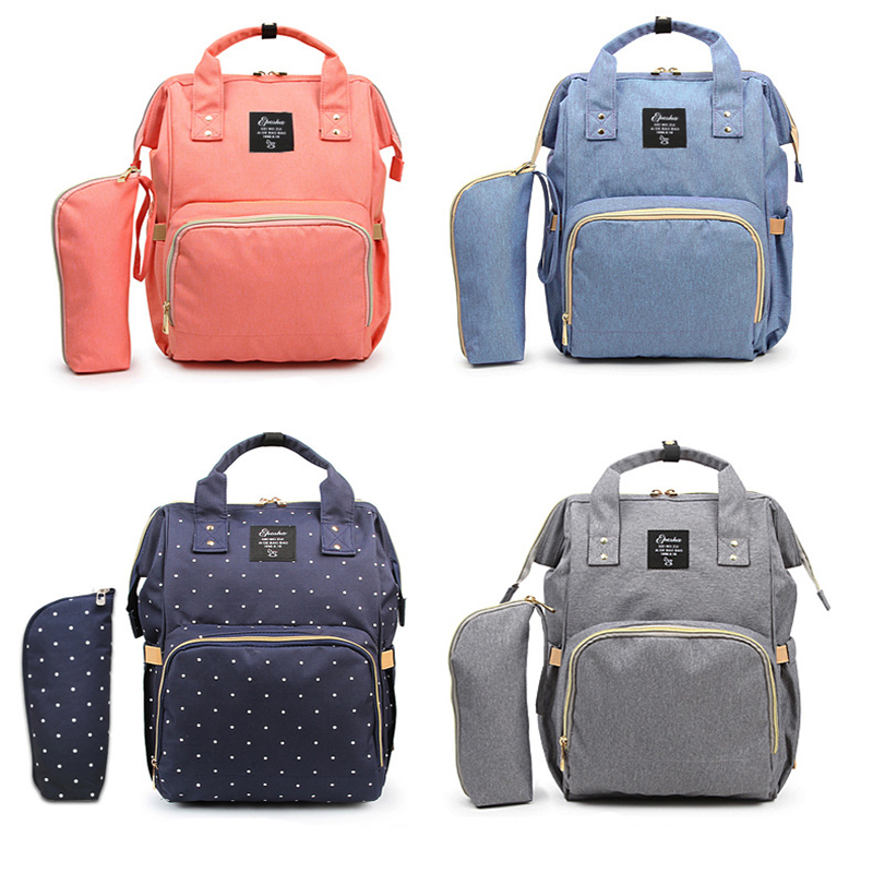 Baby Diaper Nappy Bags For Mom Backpack Mummy Maternity Handbag Travel Multifunction Bags For Stroller Waterproof BJB001